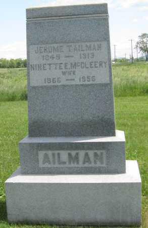 MCCLEERY AILMAN, NINETTE E. - Juniata County, Pennsylvania | NINETTE E. MCCLEERY AILMAN - Pennsylvania Gravestone Photos