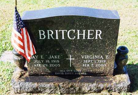 BRITCHER, VIRGINIA E. - Juniata County, Pennsylvania | VIRGINIA E. BRITCHER - Pennsylvania Gravestone Photos