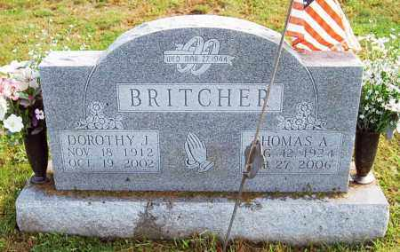 BRITCHER, DOROTHY J. - Juniata County, Pennsylvania | DOROTHY J. BRITCHER - Pennsylvania Gravestone Photos