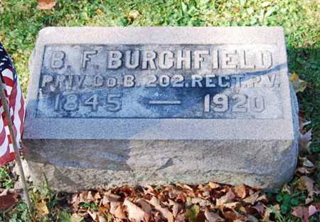 BURCHFIELD, B. F. - Juniata County, Pennsylvania   B. F. BURCHFIELD - Pennsylvania Gravestone Photos