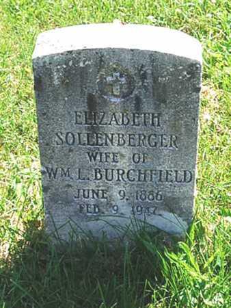 SOLLENBERGER BURCHFIELD, BARBARA ELIZABETH - Juniata County, Pennsylvania | BARBARA ELIZABETH SOLLENBERGER BURCHFIELD - Pennsylvania Gravestone Photos