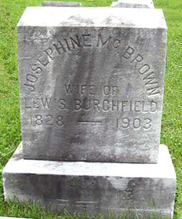 BURCHFIELD, JOSEPHINE - Juniata County, Pennsylvania | JOSEPHINE BURCHFIELD - Pennsylvania Gravestone Photos