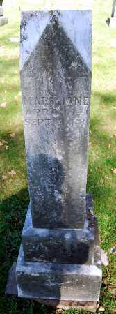 BURCHFIELD, MARY JANE - Juniata County, Pennsylvania | MARY JANE BURCHFIELD - Pennsylvania Gravestone Photos