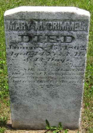CRIMMEL, MARY M. - Juniata County, Pennsylvania | MARY M. CRIMMEL - Pennsylvania Gravestone Photos