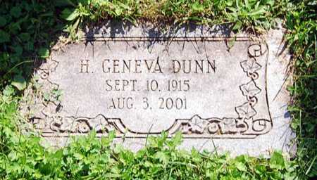 DUNN, H. GENEVA - Juniata County, Pennsylvania | H. GENEVA DUNN - Pennsylvania Gravestone Photos