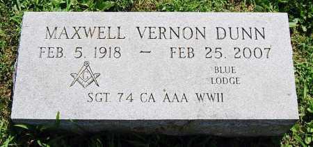 DUNN, MAXWELL VERNON - Juniata County, Pennsylvania   MAXWELL VERNON DUNN - Pennsylvania Gravestone Photos