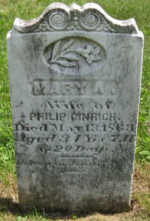 GINGRICH, MARY A. - Juniata County, Pennsylvania | MARY A. GINGRICH - Pennsylvania Gravestone Photos