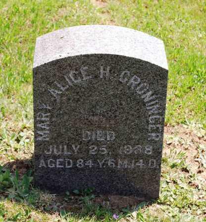 HERTZLER GRONINGER, MARY ALICE - Juniata County, Pennsylvania | MARY ALICE HERTZLER GRONINGER - Pennsylvania Gravestone Photos
