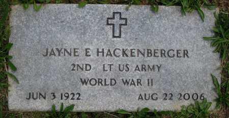 HACKENBERGER, JAYNE E. - Juniata County, Pennsylvania | JAYNE E. HACKENBERGER - Pennsylvania Gravestone Photos