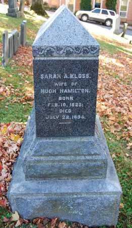 HAMILTON, SARAH A. - Juniata County, Pennsylvania | SARAH A. HAMILTON - Pennsylvania Gravestone Photos