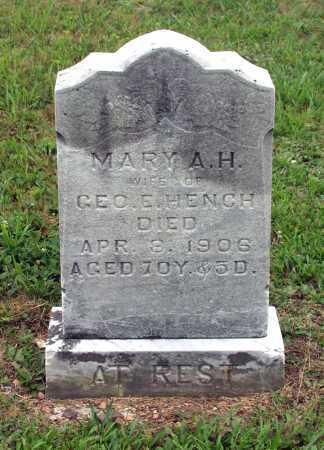 HENCH, MARY ANGELINE HOLMES - Juniata County, Pennsylvania | MARY ANGELINE HOLMES HENCH - Pennsylvania Gravestone Photos
