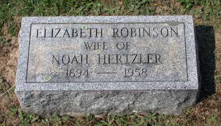 HERTZLER, ELIZABETH - Juniata County, Pennsylvania   ELIZABETH HERTZLER - Pennsylvania Gravestone Photos