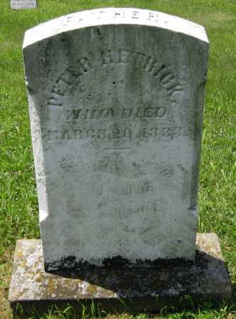 HETRICK, PETER - Juniata County, Pennsylvania | PETER HETRICK - Pennsylvania Gravestone Photos