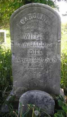 JACOBS, CAROLINE - Juniata County, Pennsylvania | CAROLINE JACOBS - Pennsylvania Gravestone Photos