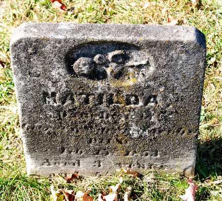 JACOBS, MATILDA - Juniata County, Pennsylvania | MATILDA JACOBS - Pennsylvania Gravestone Photos