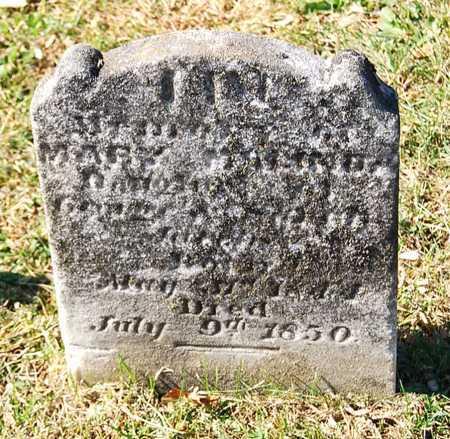 JACOBS, MARY MALINDA - Juniata County, Pennsylvania | MARY MALINDA JACOBS - Pennsylvania Gravestone Photos