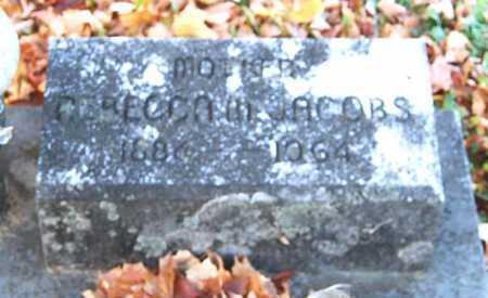 JACOBS, REBECCA M. - Juniata County, Pennsylvania | REBECCA M. JACOBS - Pennsylvania Gravestone Photos