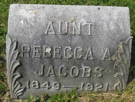 JACOBS, REBECCA A. - Juniata County, Pennsylvania   REBECCA A. JACOBS - Pennsylvania Gravestone Photos