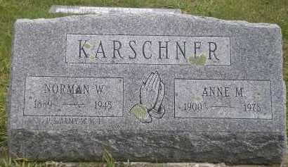 KARSCHNER, NORMAN W. - Juniata County, Pennsylvania | NORMAN W. KARSCHNER - Pennsylvania Gravestone Photos