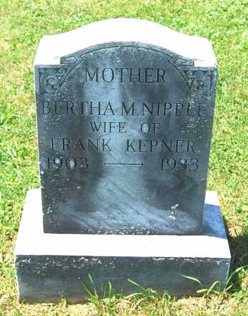 KEPNER, BERTHA M. - Juniata County, Pennsylvania | BERTHA M. KEPNER - Pennsylvania Gravestone Photos