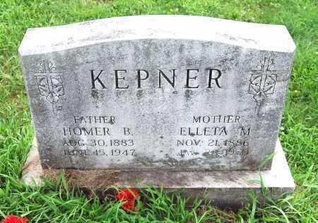 KEPNER, HOMER BENJAMIN - Juniata County, Pennsylvania | HOMER BENJAMIN KEPNER - Pennsylvania Gravestone Photos