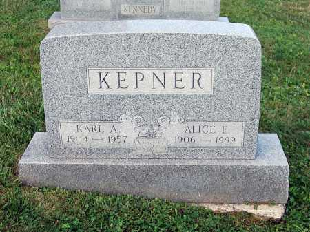 KEPNER, KARL ALVIN - Juniata County, Pennsylvania | KARL ALVIN KEPNER - Pennsylvania Gravestone Photos