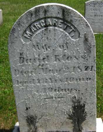 KLOSS, MARGARETT - Juniata County, Pennsylvania   MARGARETT KLOSS - Pennsylvania Gravestone Photos