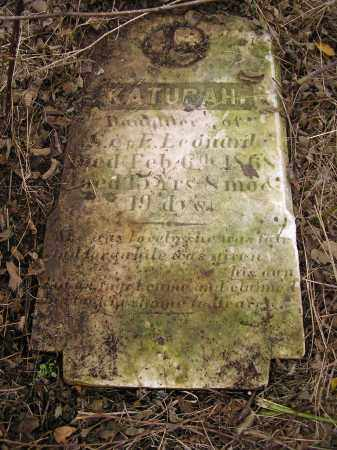 LEONARD, KATURAH - Juniata County, Pennsylvania | KATURAH LEONARD - Pennsylvania Gravestone Photos