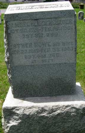 ROWE LOUDENSLAGER, ESTHER - Juniata County, Pennsylvania | ESTHER ROWE LOUDENSLAGER - Pennsylvania Gravestone Photos