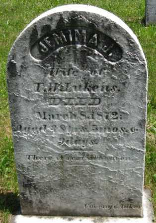 LUKENS, JEMIMA J. - Juniata County, Pennsylvania | JEMIMA J. LUKENS - Pennsylvania Gravestone Photos