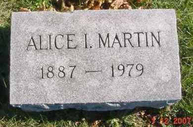 MARTIN, ALICE IRENE - Juniata County, Pennsylvania   ALICE IRENE MARTIN - Pennsylvania Gravestone Photos
