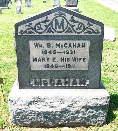 MCCAHAN, MARY ELIZABETH - Juniata County, Pennsylvania   MARY ELIZABETH MCCAHAN - Pennsylvania Gravestone Photos
