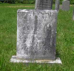 MILLER, ANNIE G. - Juniata County, Pennsylvania   ANNIE G. MILLER - Pennsylvania Gravestone Photos