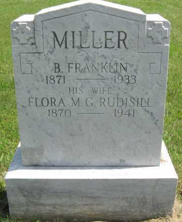 RUDISILL MILLER, FLORA M. G. - Juniata County, Pennsylvania | FLORA M. G. RUDISILL MILLER - Pennsylvania Gravestone Photos