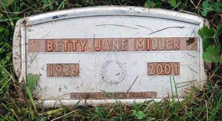 MILLER, BETTY JANE - Juniata County, Pennsylvania | BETTY JANE MILLER - Pennsylvania Gravestone Photos