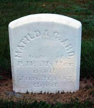 MILLER, MATILDA C. - Juniata County, Pennsylvania | MATILDA C. MILLER - Pennsylvania Gravestone Photos