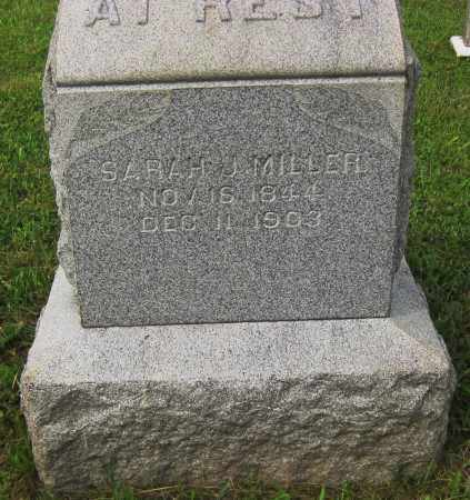 MILLER, SARAH J. - Juniata County, Pennsylvania | SARAH J. MILLER - Pennsylvania Gravestone Photos