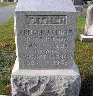 MOIST, ABRAM J. - Juniata County, Pennsylvania | ABRAM J. MOIST - Pennsylvania Gravestone Photos