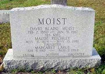 MOIST, MARGARET LARUE - Juniata County, Pennsylvania | MARGARET LARUE MOIST - Pennsylvania Gravestone Photos