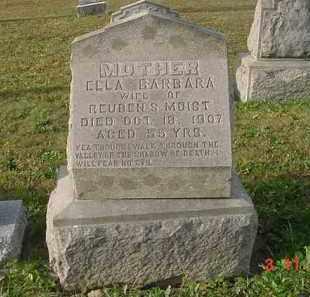 MOIST, ELLA BARBARA - Juniata County, Pennsylvania | ELLA BARBARA MOIST - Pennsylvania Gravestone Photos
