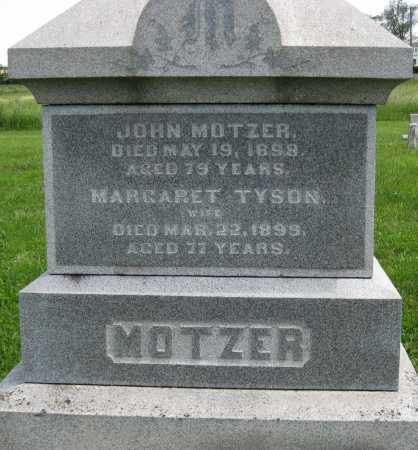 TYSON MOTZER, MARGARET - Juniata County, Pennsylvania | MARGARET TYSON MOTZER - Pennsylvania Gravestone Photos