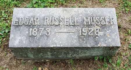 MUSSER, EDGAR RUSSELL - Juniata County, Pennsylvania | EDGAR RUSSELL MUSSER - Pennsylvania Gravestone Photos