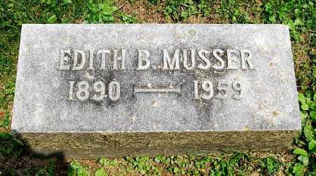 MUSSER, EDITH B. - Juniata County, Pennsylvania | EDITH B. MUSSER - Pennsylvania Gravestone Photos