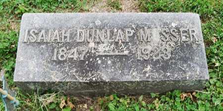 MUSSER, ISAIAH DUNLAP - Juniata County, Pennsylvania | ISAIAH DUNLAP MUSSER - Pennsylvania Gravestone Photos