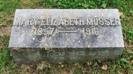 MUSSER, MARY ELIZABETH - Juniata County, Pennsylvania | MARY ELIZABETH MUSSER - Pennsylvania Gravestone Photos
