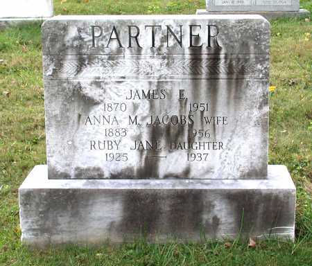 JACOBS PARTNER, ANNA MARTHA - Juniata County, Pennsylvania | ANNA MARTHA JACOBS PARTNER - Pennsylvania Gravestone Photos