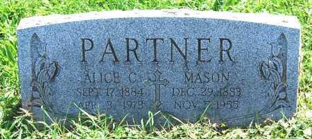 PARTNER, MASON F. - Juniata County, Pennsylvania | MASON F. PARTNER - Pennsylvania Gravestone Photos