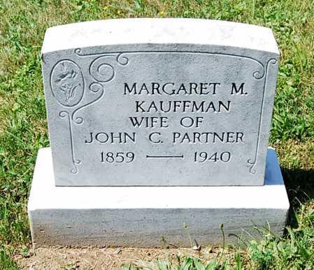 KAUFFMAN PARTNER, MARGARET M. - Juniata County, Pennsylvania   MARGARET M. KAUFFMAN PARTNER - Pennsylvania Gravestone Photos