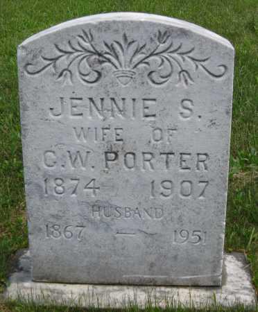 PORTER, JENNIE S. - Juniata County, Pennsylvania | JENNIE S. PORTER - Pennsylvania Gravestone Photos