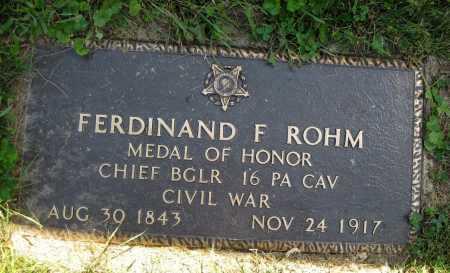 ROHM, FERDINAND F. - Juniata County, Pennsylvania | FERDINAND F. ROHM - Pennsylvania Gravestone Photos
